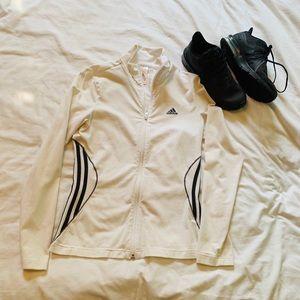 Adidas lightweight cotton zip up (white)